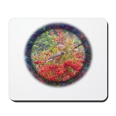 Robins with Berries Mousepad