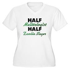 Half Melittologist Half Zombie Slayer Plus Size T-