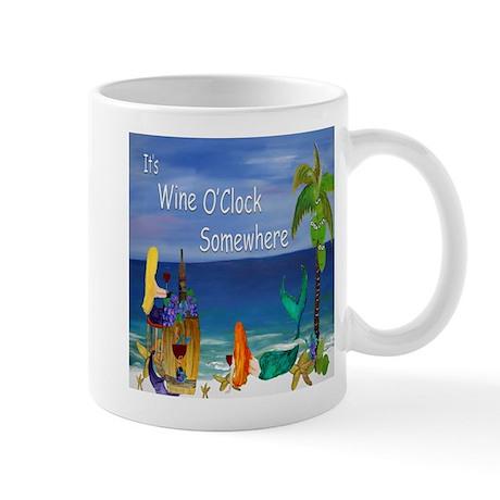 Wine OClock Mermaid Mugs