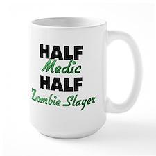 Half Medic Half Zombie Slayer Mugs