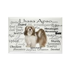 Lhasa Apso Traits Magnets