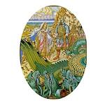 The Maiden's Rescue Oval Ornament