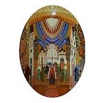 Russian Town Square Oval Ornament