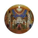 Russian Town Square Ornament (Round)