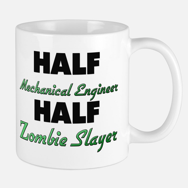 Half Mechanical Engineer Half Zombie Slayer Mugs