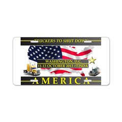 Truckers To Shutdown America Large Aluminum Licens