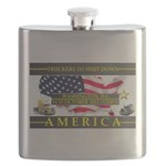 Truckers To Shutdown America Large Flask
