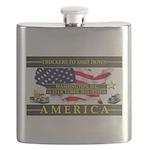 Truckers To Shutdown America Large Flask