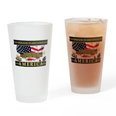 Truckers To Shutdown America Large Drinking Glass