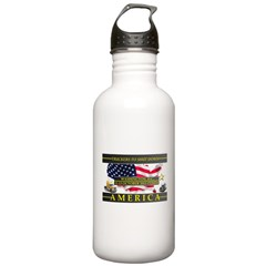 Truckers To Shutdown America Large Water Bottle