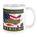 Truckers To Shutdown America Large Mugs