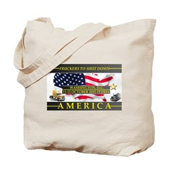 Truckers To Shutdown America Large Tote Bag