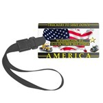 Truckers To Shutdown America Large Luggage Tag