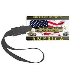 Truckers To Shutdown America Luggage Tag