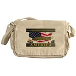 Truckers To Shutdown America Large Messenger Bag