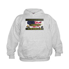 Truckers To Shutdown America Large Hoodie