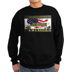 Truckers To Shutdown America Large Sweatshirt