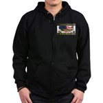 Truckers To Shutdown America Large Zip Hoodie