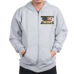 Truckers To Shutdown America Large Zip Hoodie