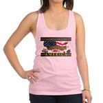 Truckers To Shutdown America Large Racerback Tank