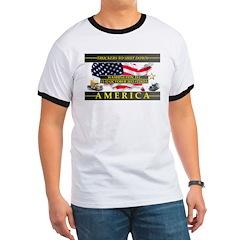Truckers To Shutdown America Large T-Shirt