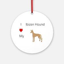 I Love my Ibizan Ornament (Round)