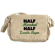 Half Marshal Half Zombie Slayer Messenger Bag