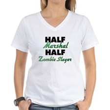 Half Marshal Half Zombie Slayer T-Shirt