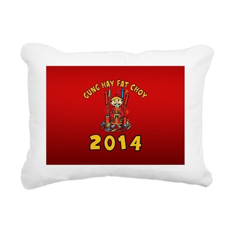Happy Chinese New Year 2014 Rectangular Canvas Pil
