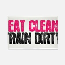 Cute Eat clean train dirty Rectangle Magnet (10 pack)