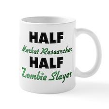 Half Market Researcher Half Zombie Slayer Mugs