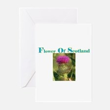 Flower Of Scotland(3) Greeting Cards (Pk of 10