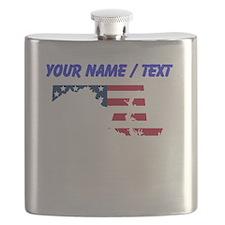 Custom Maryland American Flag Flask