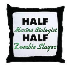 Half Marine Biologist Half Zombie Slayer Throw Pil
