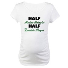 Half Marine Biologist Half Zombie Slayer Shirt