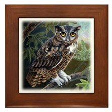 Owl at Twilight Framed Tile