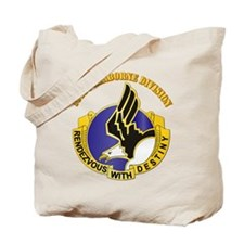 DUI - 101st Airborne Division with Text Tote Bag
