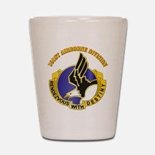 DUI - 101st Airborne Division with Text Shot Glass