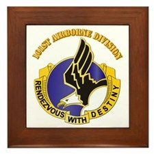 DUI - 101st Airborne Division with Text Framed Til