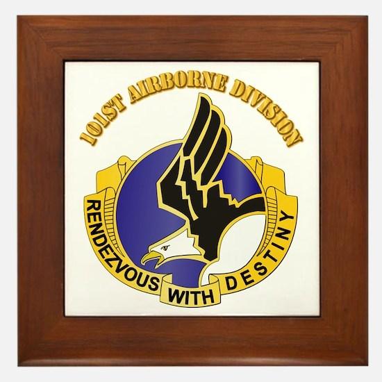 DUI - 101st Airborne Division with Text Framed Til