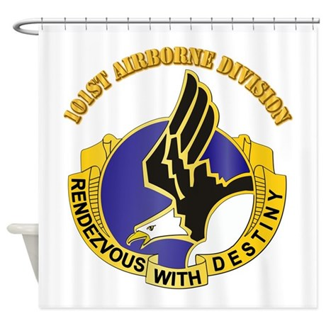 DUI - 101st Airborne Division with Text Shower Cur