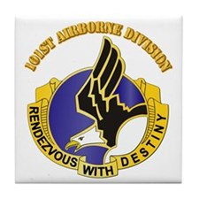 DUI - 101st Airborne Division with Text Tile Coast