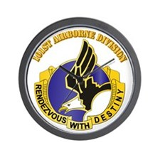 DUI - 101st Airborne Division with Text Wall Clock