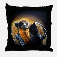 Dark Hawk Throw Pillow