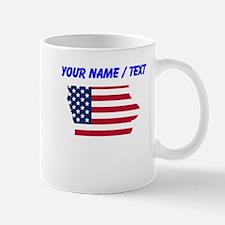 Custom Iowa American Flag Mugs
