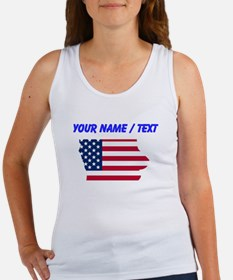 Custom Iowa American Flag Tank Top
