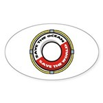 Save The Ocean Sticker (Oval)