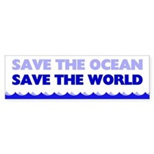Save The Ocean Bumper Stickers