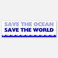 Save The Ocean Car Car Sticker