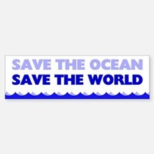 Save The Ocean Sticker (Bumper)